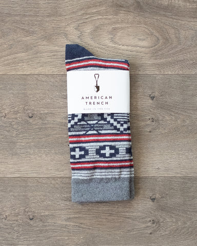 American Trench Southwest Diamond Socks Grey