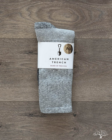 Silver Crew Socks - Athletic Grey