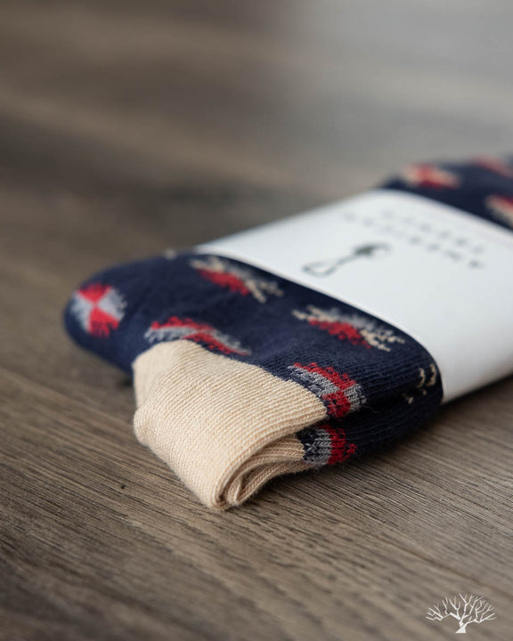 Critter Supima Cotton Socks - Navy