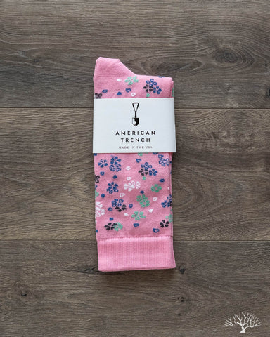 Floral Pattern Supima Cotton - Pink