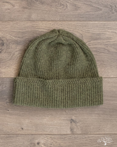 Baby Alpaca Watch Cap - Olive