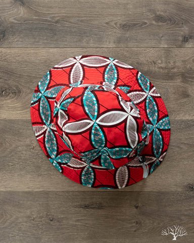 Batik Hat w/ Drawcord - Red