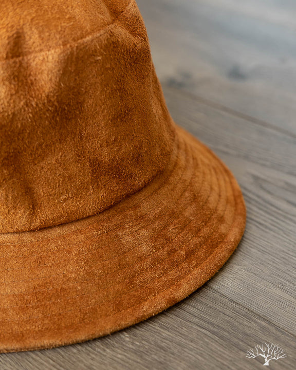 Cowhide Suede Bucket Hat