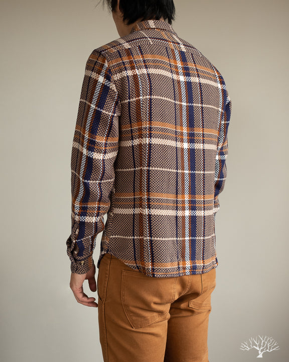 Corridor Acid Plaid Taupe Shirt