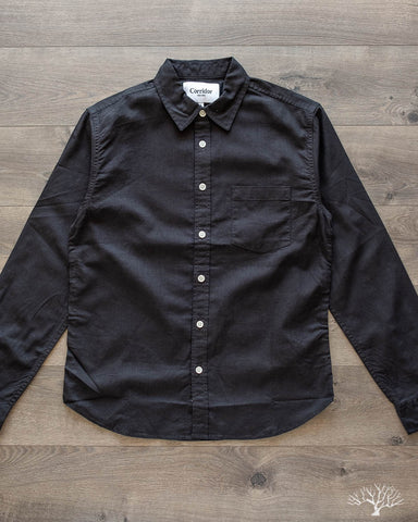 Black Linen Cotton Shirt