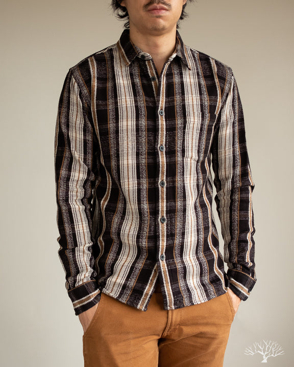 Corridor Black Mustard Plaid Shirt
