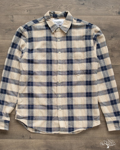 Corridor Capricorn Plaid Taupe Shirt