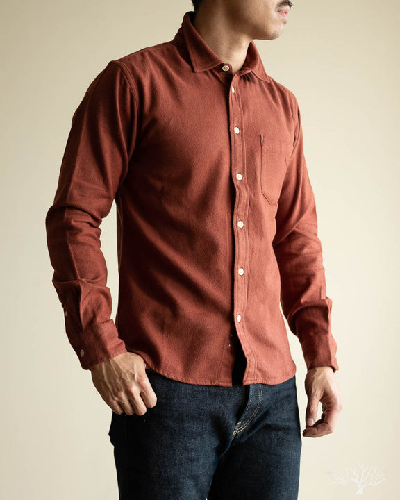 Clay Flannel Long-Sleeve Shirt