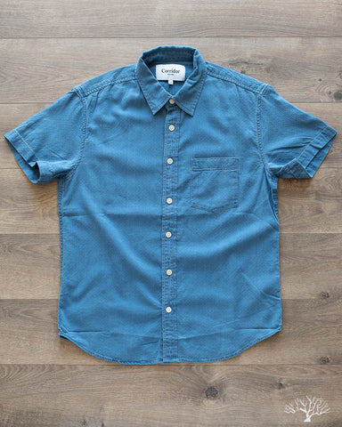 Heavy Wash Dobby Short-Sleeve Shirt