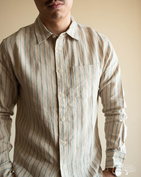 Natural Stripe Linen Shirt
