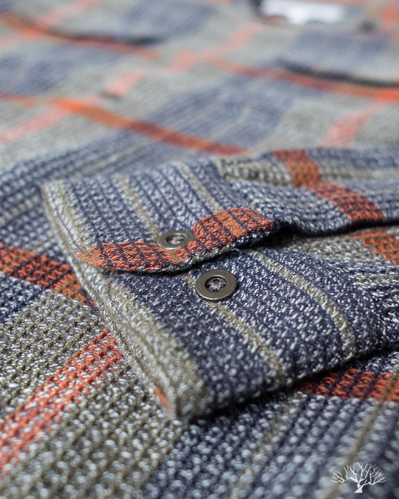 Corridor Twisted Yarn Waffle Olive Plaid Work Shirt