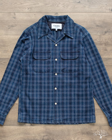 Corridor Washed Indigo Check Work Shirt