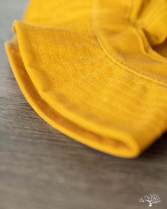Waxed Yellow Bucket Hat