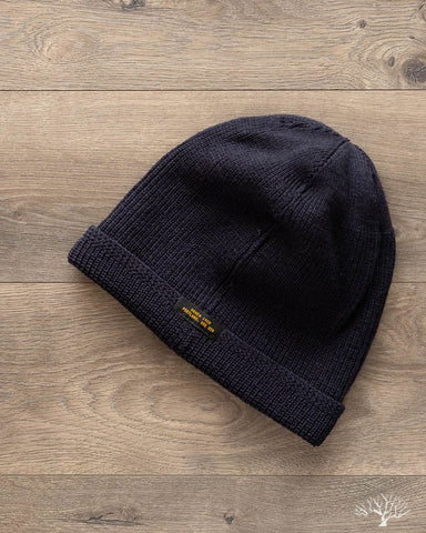 Wool Knit Watch Cap - Dark Navy