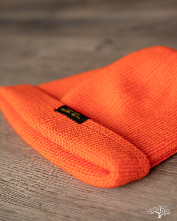 Wool Knit Watch Cap - Safety Orange