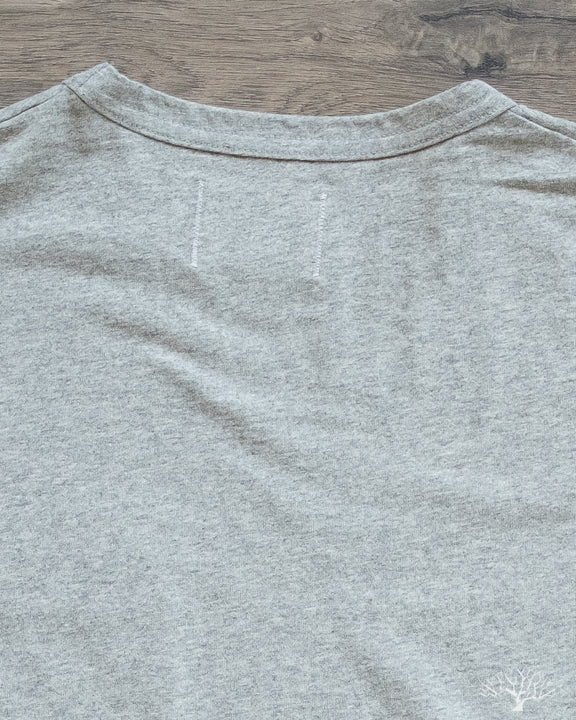 Heavy Duty Pocket Tee - Heather Grey
