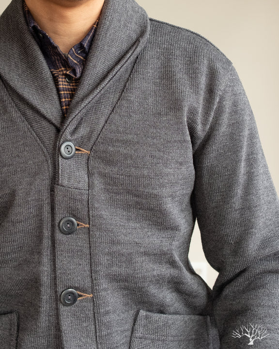 Shawl Sweater Coat 2.0 - Charcoal (Modified)
