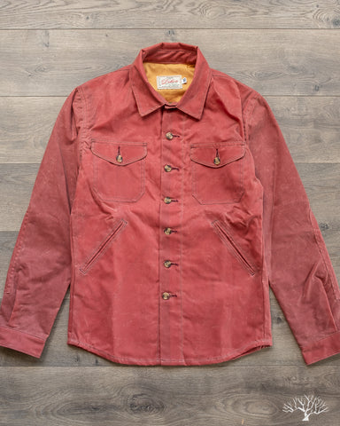 Waxed Canvas Crissman Overshirt - Nautical Red