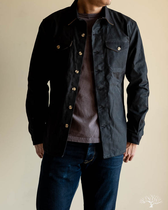 Waxed Canvas Crissman Overshirt - Black