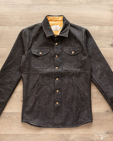 Denim Crissman Overshirt - 14 oz Black Denim