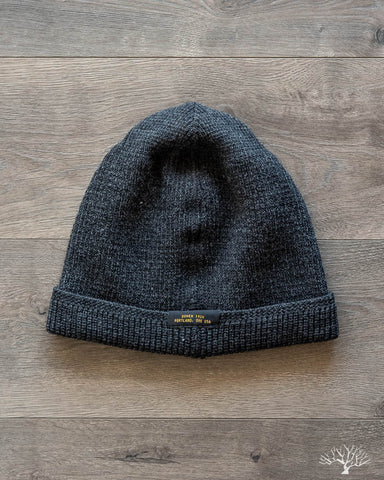 Wool Knit Watch Cap - Dark Charcoal