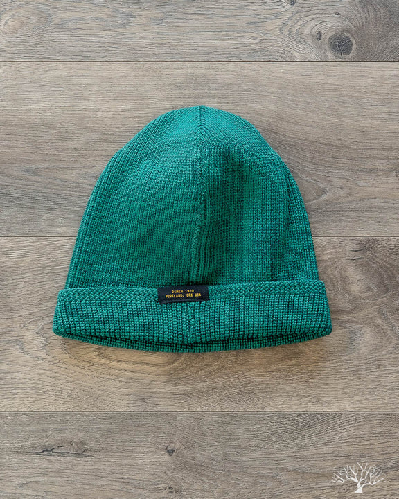 b595fa9c3c9 Dehen 1920 - Wool Knit Watch Cap - Emerald – Withered Fig