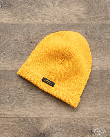 Wool Knit Watch Cap - Gold