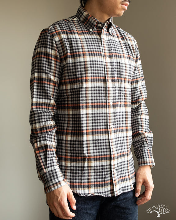 Gitman Vintage Grey Country Plaid Long Sleeve Button up Shirt