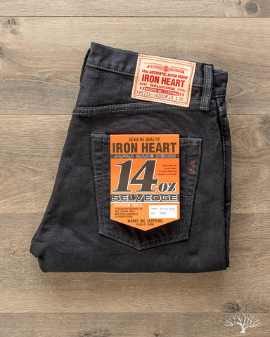 IH-777S-142od - Indigo Overdyed Black Slim Tapered Denim