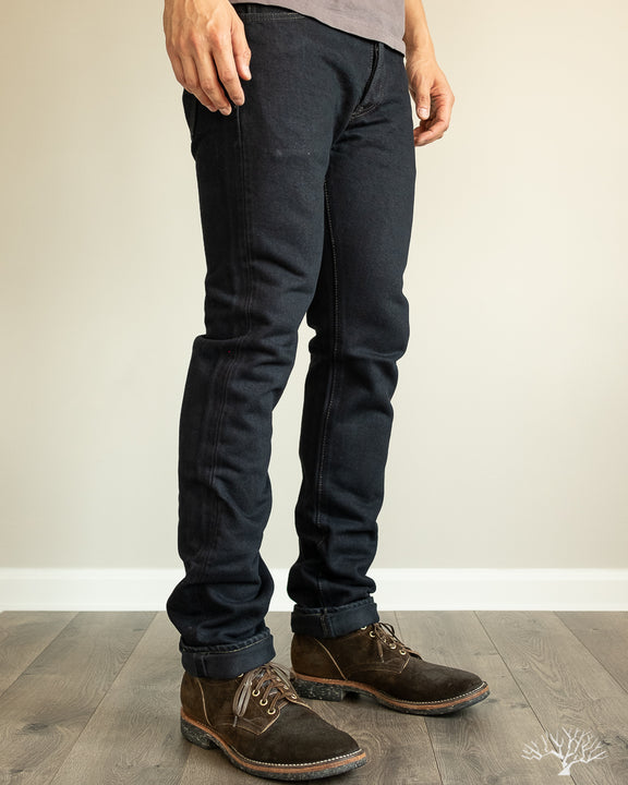 IH-555-01od - Overdyed Indigo 21oz Japanese Selvedge Super Slim Denim