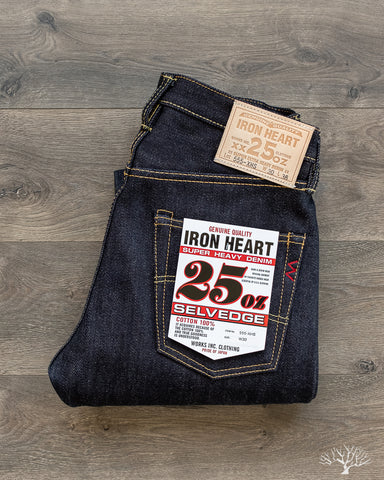 IH-555-XHS - 25oz Indigo Selvedge Super Slim Denim