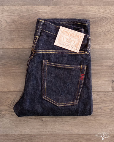 Iron Heart IH-555S-21- Indigo 21oz Japanese Selvedge Super-Slim Denim