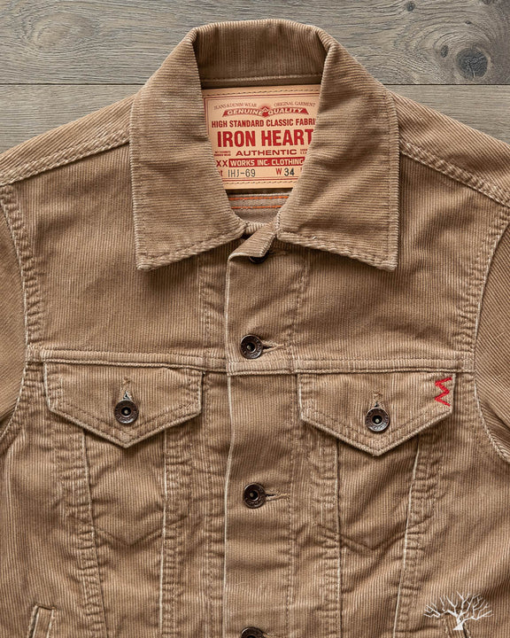 IHJ-69 - 14W Corduroy Modified Type III Jacket - Khaki