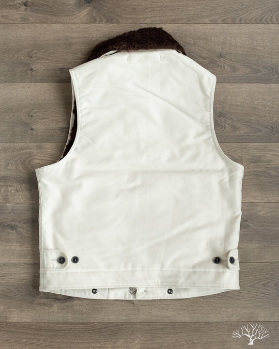 Iron Heart N1 Deck Vest Alpaca Lined in Ivory