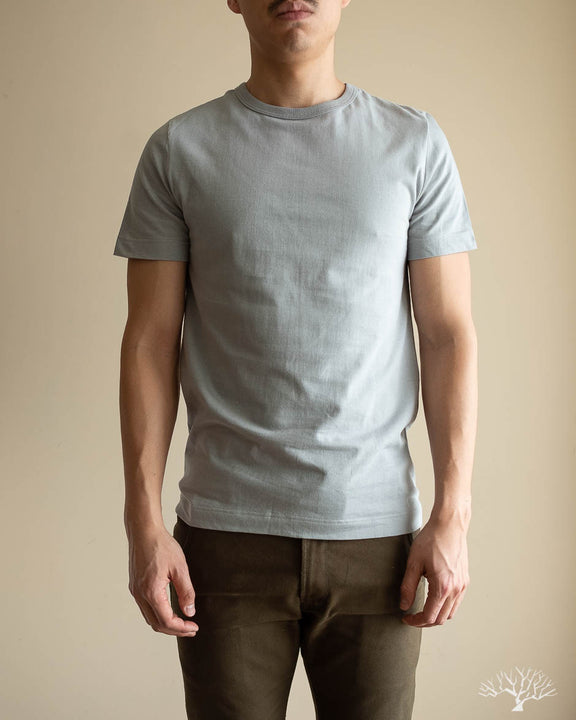 1950s Organic Cotton Crew Neck Tee - Lead Grey