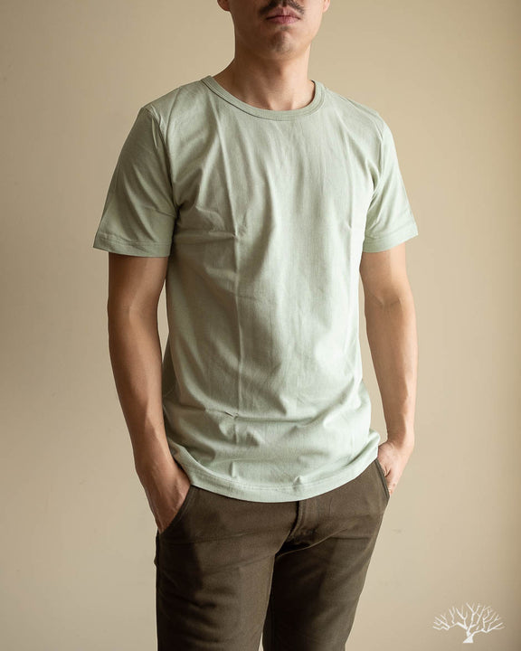 1950s Organic Cotton Crew Neck Tee - Sage