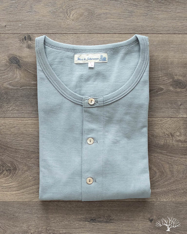 206 Long Sleeve Henley - Lead Grey