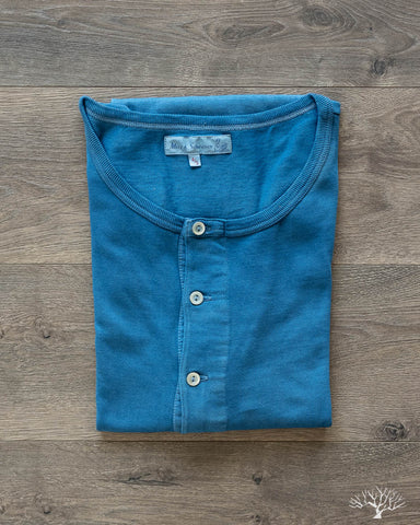 207 Short Sleeve Henley - Natural Indigo