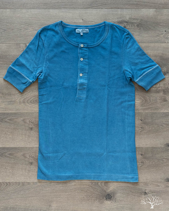 207 Henley Short Sleeve - Natural Indigo