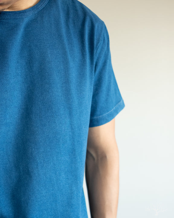 215 Crew Neck Tee - Natural Indigo (Dark)