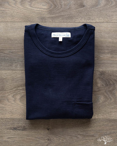 215 2-Thread Organic Cotton Crew Neck Tee - Ink Blue