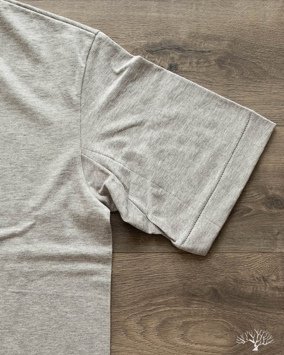 218OS 2-Thread Oversized Crew Neck Tee - Grey Melange