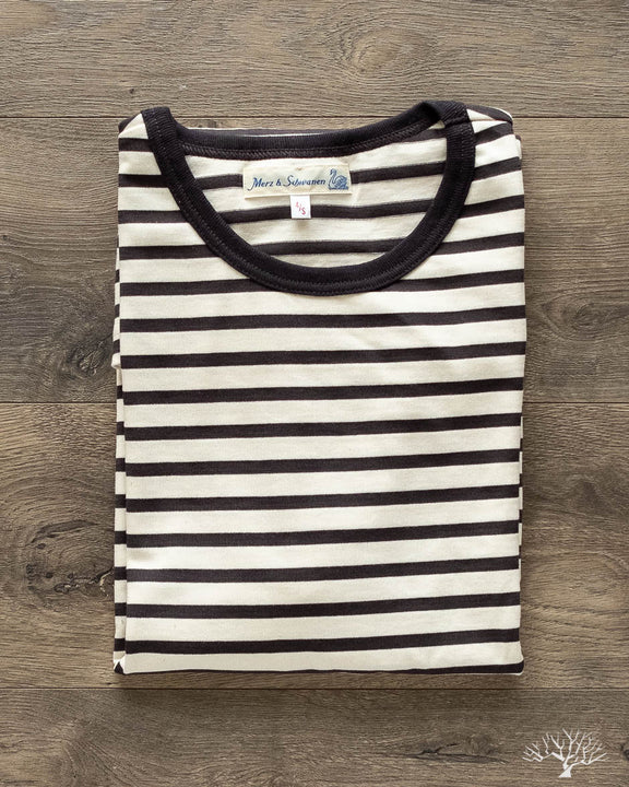 2M15 Crew Neck Striped Tee - Charcoal/Nature