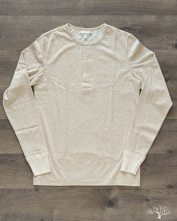 2H06 Hemp / Organic Cotton Henley Long Sleeve - Nature Melange