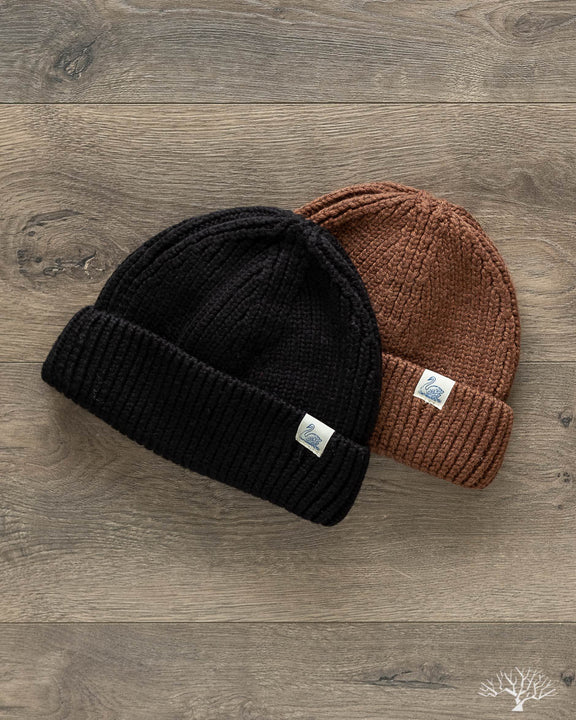Good Basics Merino Wool Beanie - Deep Black