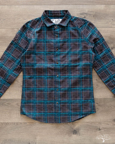 DMT Check Raglan Shirt - Blue/Grey