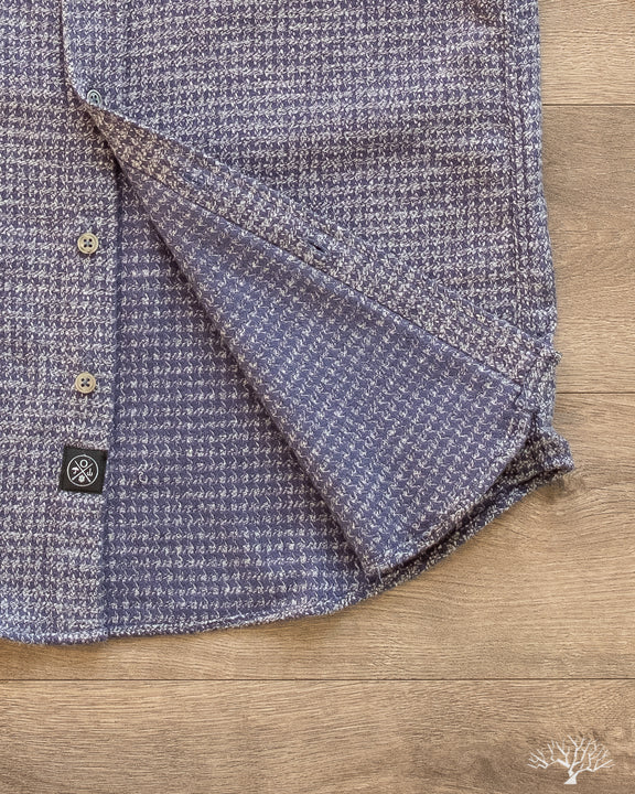 Houndstooth Flannel Shirt - Blue