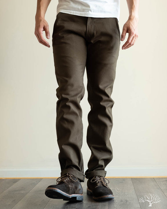 Duck Canvas Flight Trousers - Seaweed Green