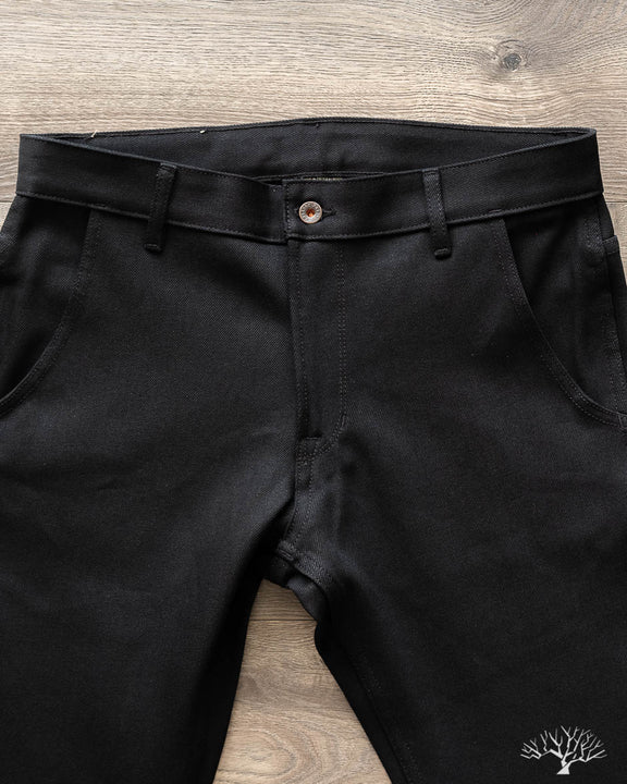 Flight Trousers - 13.75 oz Double Black Denim