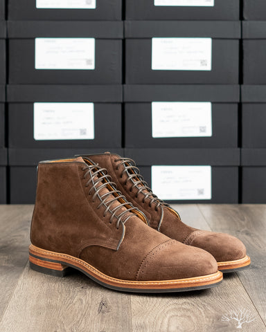 Viberg Brown Calf Suede Derby Boot 2020 Last